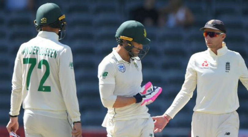 WATCH: Faf du Plessis pushes Jos Buttler in Johannesburg Test; might get penalized