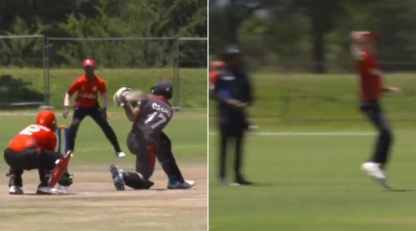 WATCH: Benjamin Calitz nonchalantly grabs one-handed stunner to dismiss Osama Hassan in UAE vs Canada U-19 World Cup match