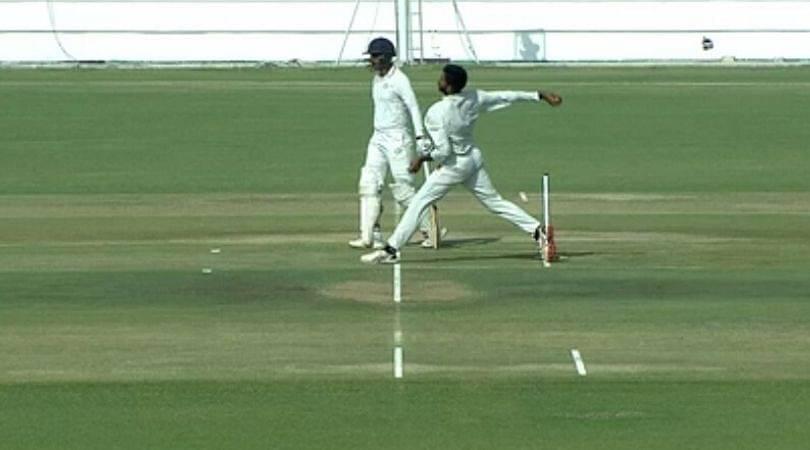 WATCH: Kishan Parmar gets reprieve as Chintan Gaja oversteps in Gujarat vs Saurashtra Ranji semi-final