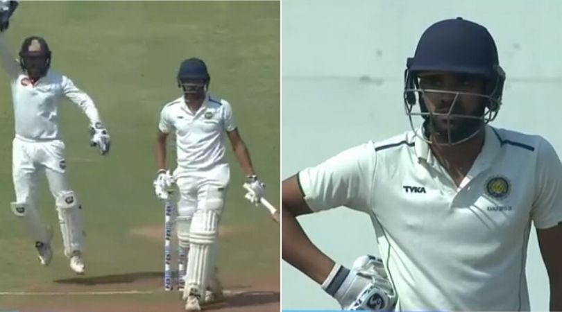 WATCH: Snehal Kauthankar furious with Nandan after being wrongly given out in Ranji Trophy quarter-final vs Gujarat