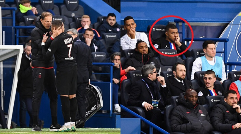 Kylian Mbappe was livid with Thomas Tuchel after being substituted during PSG vs Montpellier