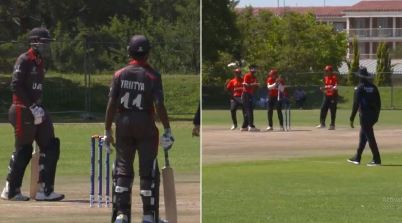 WATCH: Aryan Lakra's comical run-out in UAE vs Canada U-19 World Cup match