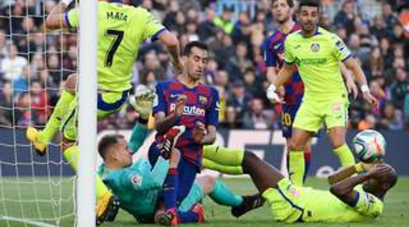 Marc-Andre ter Stegan pulls off incredible save during Barcelona's 2-1 win over Getafe
