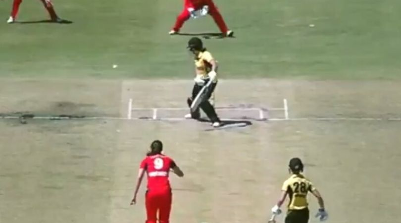 Tahlia McGrath banana swing delivery: Watch South Australia all-rounder foxes batswoman with peach of a delivery