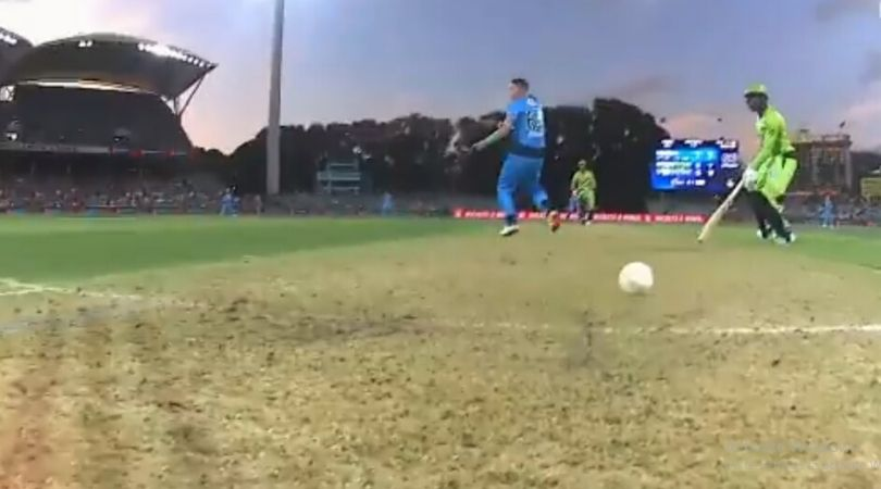 WATCH: Arjun Nair involved in doomed run-out in Strikers vs Thunder BBL knockout match