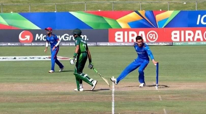 WATCH: Noor Ahmad mankads Mohammad Huraira in Pakistan vs Afghanistan U-19 World Cup match