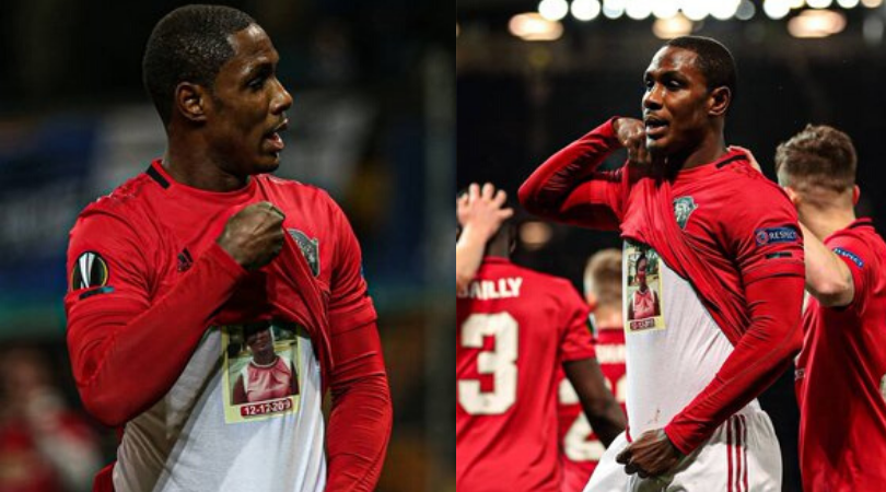 Odion Ighalo first Man Utd goal Red Devils forward dedicates his first goal to late sister