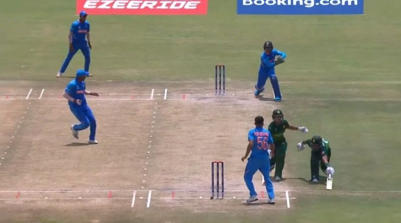 WATCH: Rohail Nazir and Qasim Akram involved in hilarious mix-up vs India in U-19 World Cup