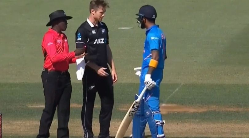 KL Rahul-James Neesham altercation: Watch KXIP players' face-off against each other in third ODI