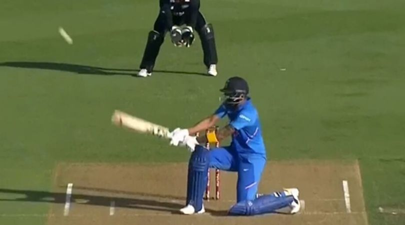 WATCH: KL Rahul reverse scoops James Neesham for supreme six in Hamilton ODI