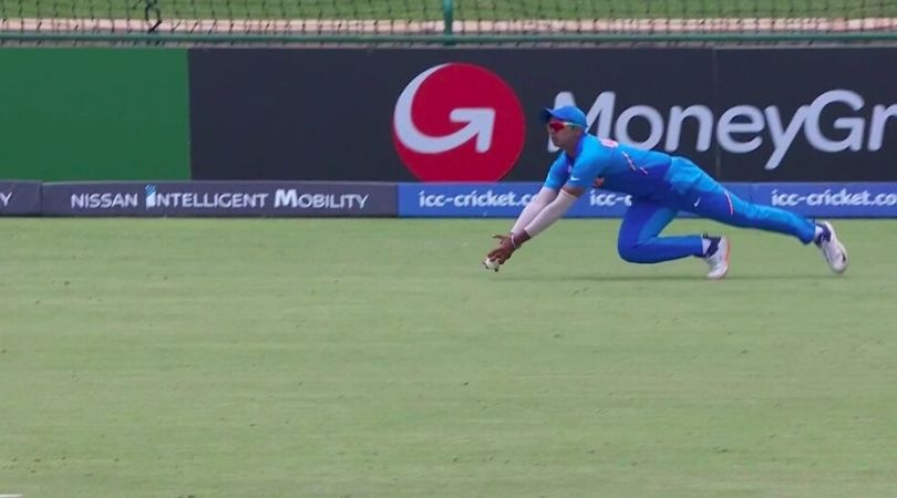 WATCH: Divyaansh Saxena grabs magnificent catch to dismiss Mohammad Haris in IND vs PAK U-19 World Cup semi-final