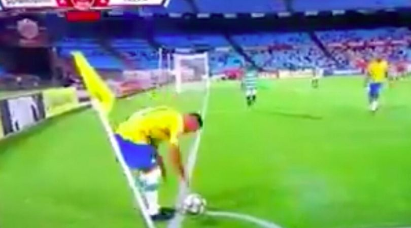 Mamelodi Sundowns players took time wasting to next heights during a corner kick