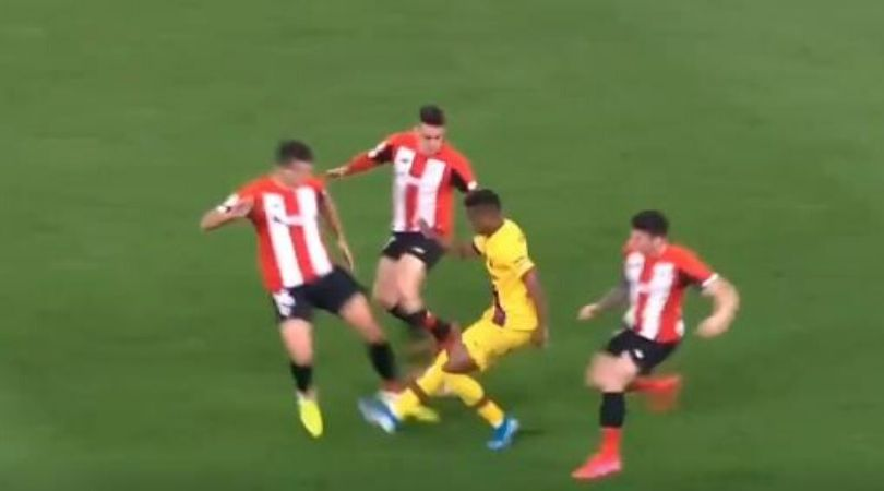 Ansu Fati tricks three Athletic Bilbao players with one move during Copa Del Rey match