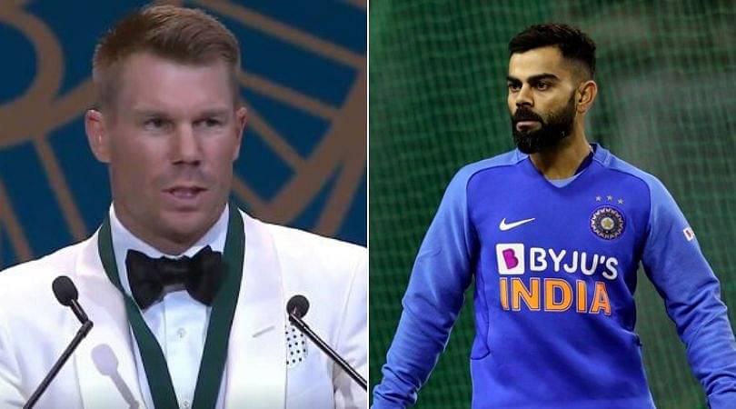 Watch: David Warner names Virat Kohli and breaks down after winning Allan Border medal
