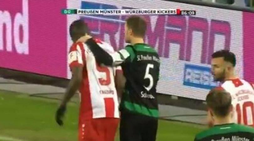 Preußen Munster fans inspiringly fights against racism while defending opposite player