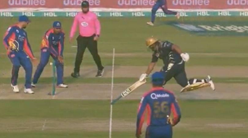 WATCH: Azam Khan runs with inverted bat vs Karachi Kings in PSL 2020