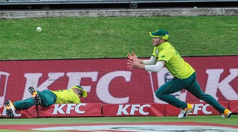 WATCH: Faf du Plessis and David Miller's tag team effort dismisses Mitchell Marsh in Port Elizabeth T20I