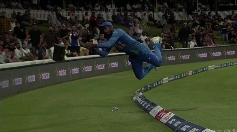 WATCH: Airborne Sanju Samson's courageous effort saves four runs for India in fifth T20I