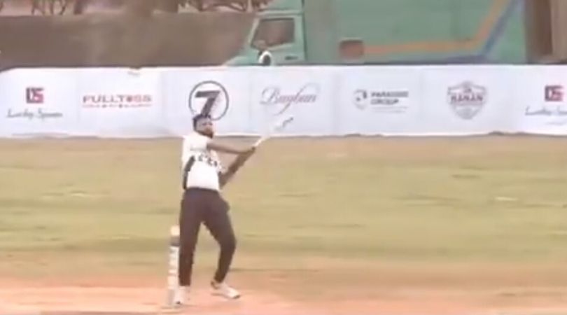 WATCH: Aakash Chopra posts video of batsman hitting six from behind the wickets in local match
