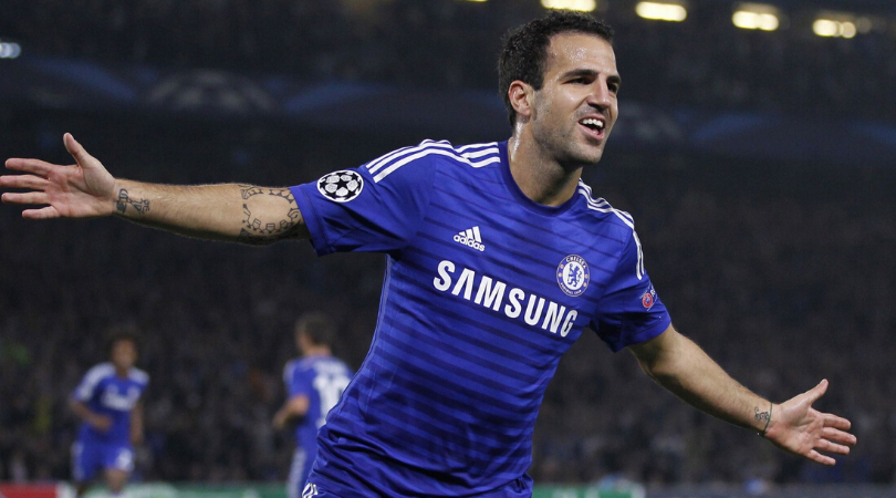 Cesc Fabregas recounts hilarious story about losing a bet during Chelsea training