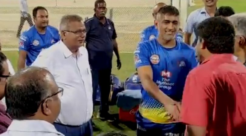 WATCH: MS Dhoni greets fans before leaving Chennai as IPL 2020 gets postponed