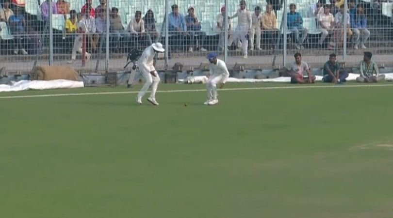 WATCH: Krishnappa Gowtham and Jagadeesha Suchith commit hilarious error to give four runs to Sudip Chatterjee in Ranji Trophy semi-final