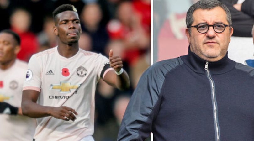 Mino Raiola provides update on Paul Pogba's Manchester United future