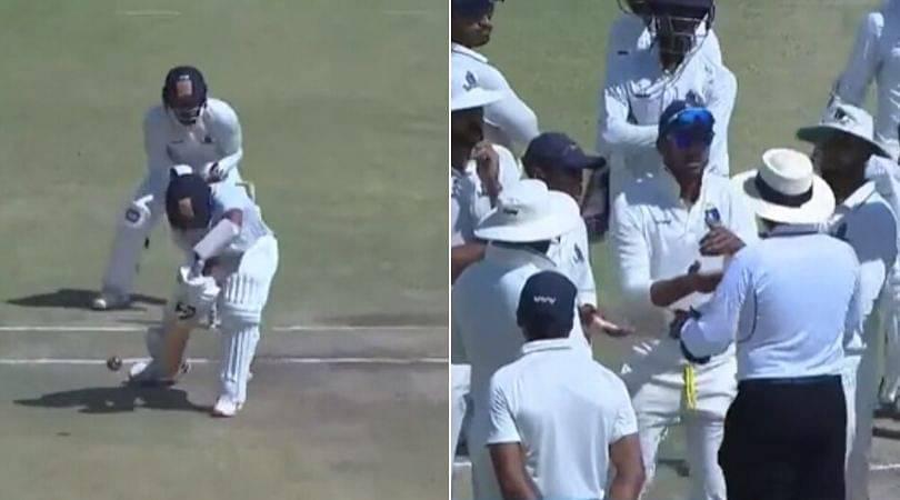 WATCH: Cheteshwar Pujara survives in Ranji Trophy final due to nine-meter rule; erupts on-field debate