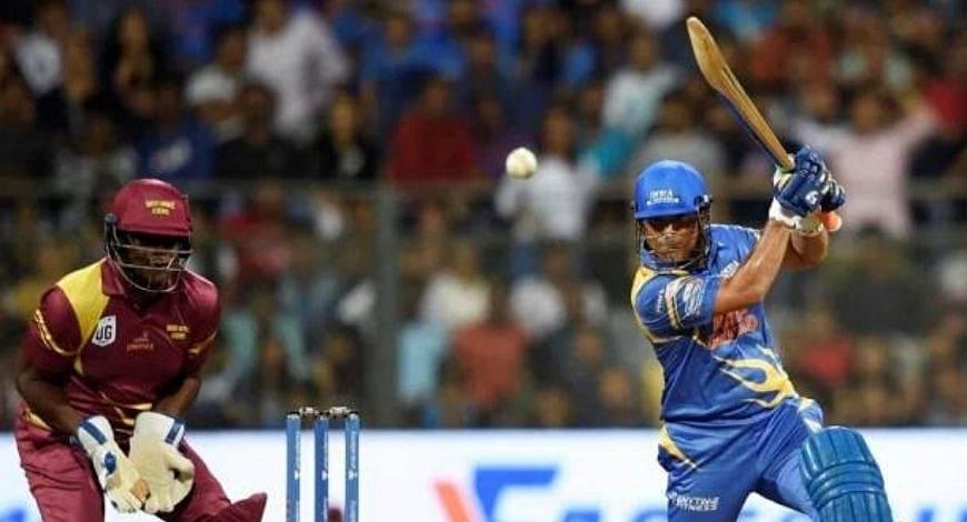 Sachin Tendulkar hits glorious shot at Wankhede stadium against Brian Lara's West Indies' legends