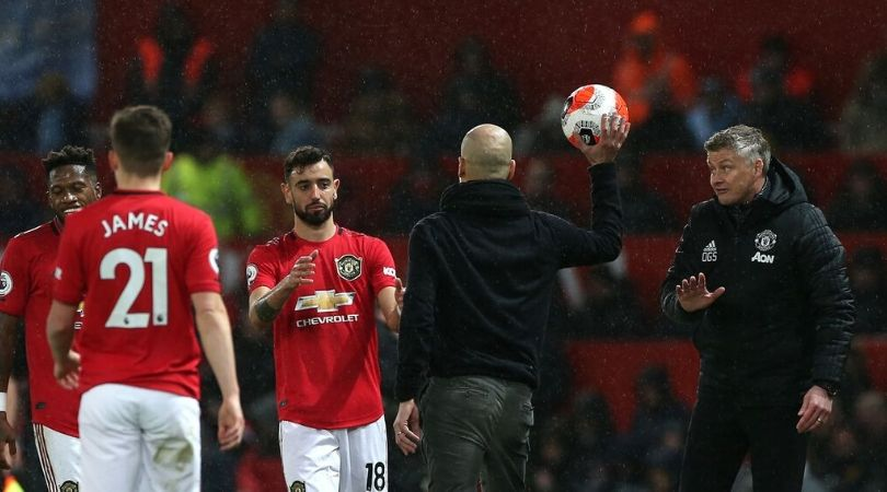 Bruno Fernandes tells Pep Guardiola to shut up during Manchester derby