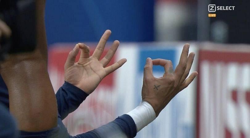Neymar copies Erling Haaland's celebration after scoring against Borussia Dortmund
