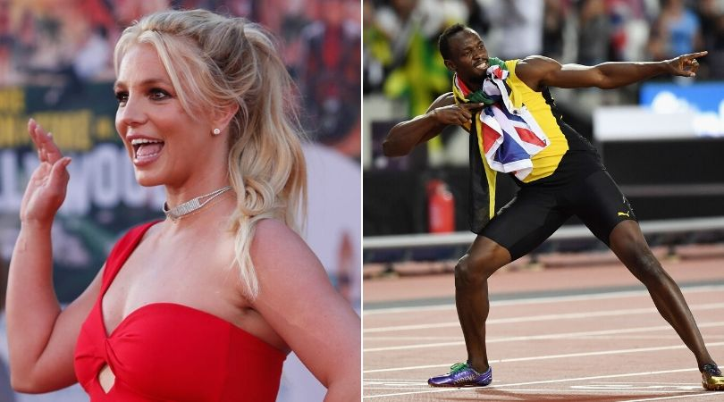 Britney Spears claims to break 100m world record of Usain Bolt