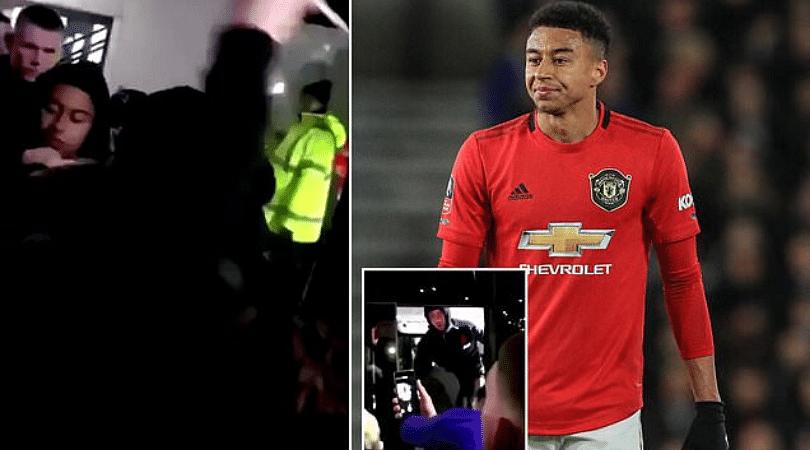 Video footage of Man Utd fans abusing Jesse Lingard goes viral.