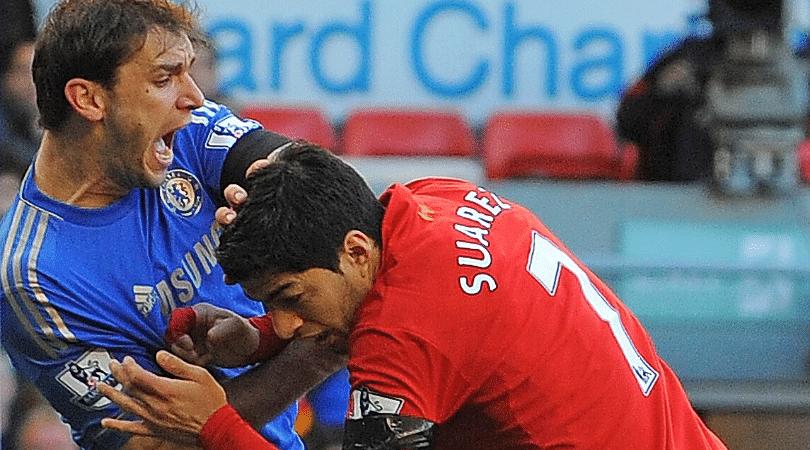 Jamie Carragher reveals what Luis Suarez told squad after biting Branislav Ivanovic
