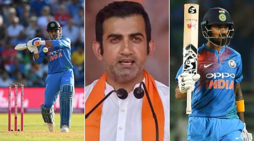 "MS Dhoni replacement: Gautam Gambhir deduces KL Rahul ""could be"" apt replacement for Dhoni"