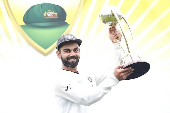 Nathan Lyon pictures Virat Kohli playing sans crowd during India's tour of Australia 2020-21
