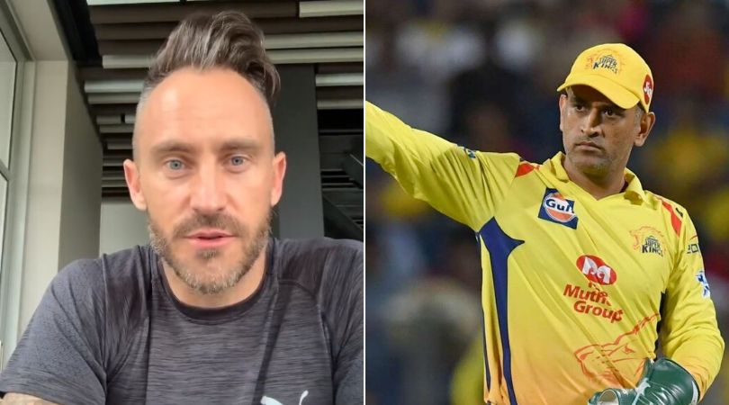 WATCH: CSK's Faf du Plessis reveals MS Dhoni-related Best IPL memory