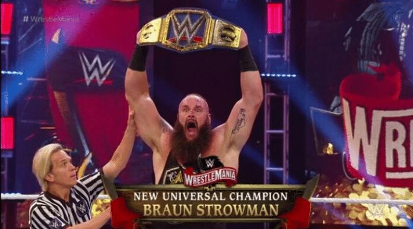 Wrestlemania 36 Bill Goldberg vs Braun Strowman