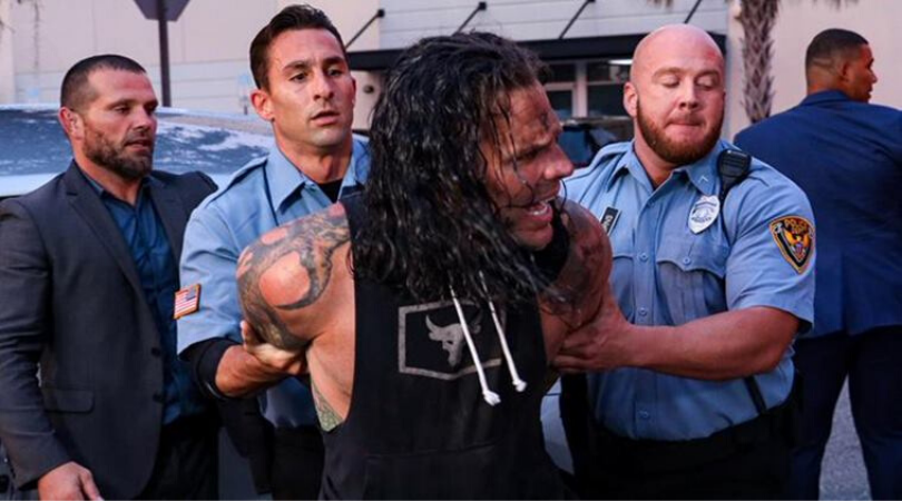 Jeff Hardy arrested in controversial WWE storyline