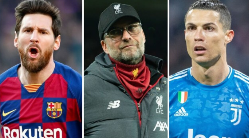 Jurgen Klopp reveals his pick between Cristiano Ronaldo and Lionel Messi