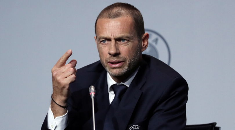 UEFA President asked if he supports Man City's Champions League ban