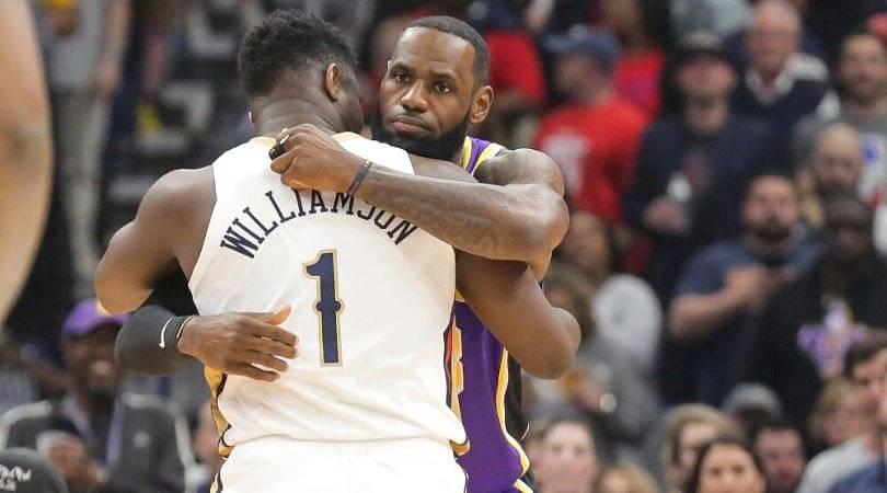 LeBron James vs Zion Williamson in playoffs