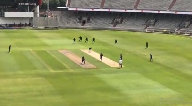 WATCH: Oshane Thomas castles Shayne Moseley on first ball of practice match at Old Trafford