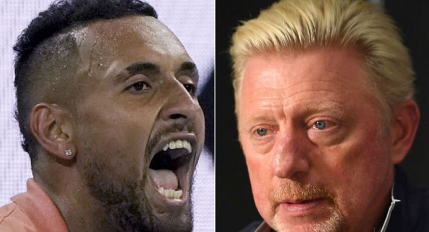 Boris Becker and Nick Kyrgios engage in a war of words over the Adria Tour coronavirus fiasco