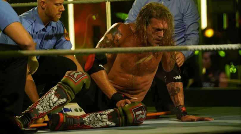 WWE Superstar Edge proves his injury is not a work with graphic pictures