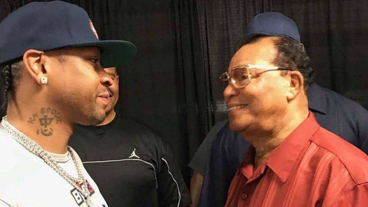 Allen Iverson and Louis Farrakhan