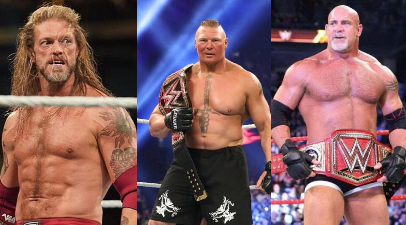 Edge takes a swipe at Goldberg and Brock Lesnar