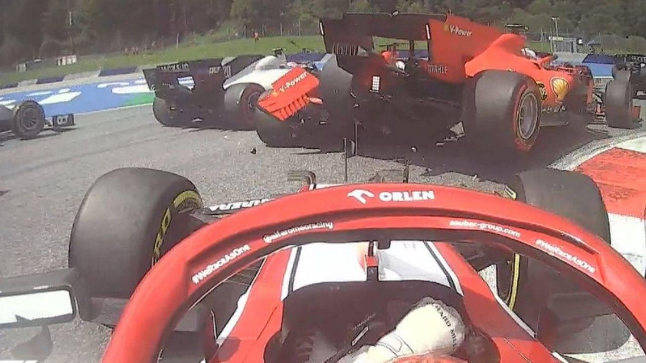 Ferrari F1 Crash Charles Leclerc Takes Blame For Crashing Into Teammate Sebastian Vettel The Sportsrush