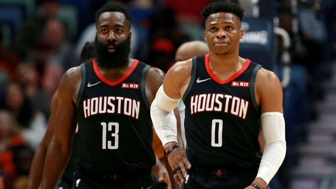 Why did James Harden and Russell Westbrook not travel with Houston Rockets