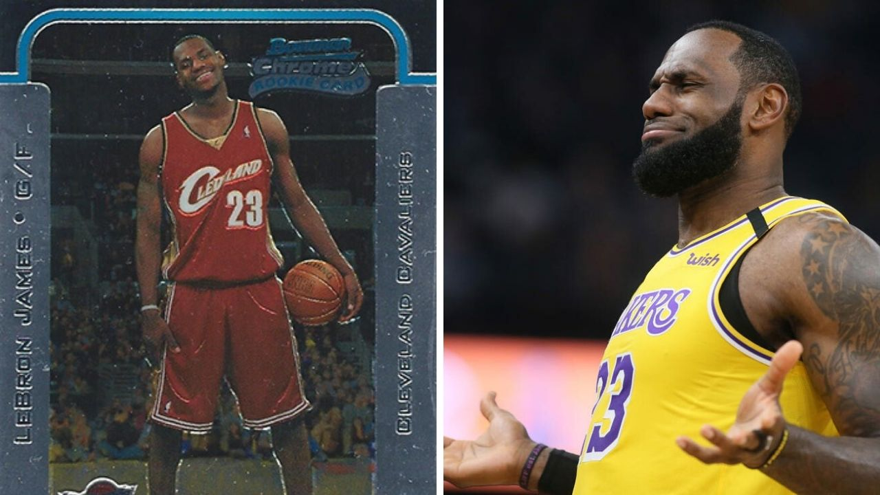 Lebron James Rookie Card Lakers Stars Rookie Card Sold For Record Breaking 1 8 Million The Sportsrush